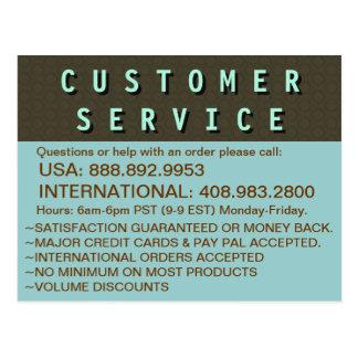 カスタマーサービスの連絡先情報 ポストカード