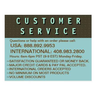 カスタマーサービス情報- ポストカード
