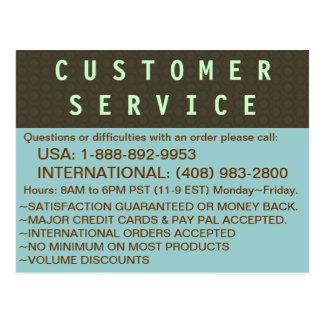カスタマーサービス-情報の郵便はがき ポストカード