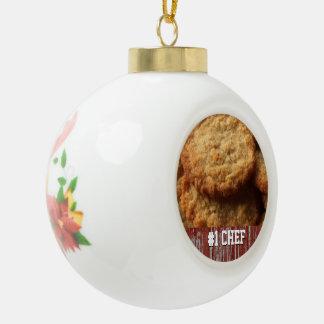 カスタムでおいしい砂糖クッキー|の焼ける#1ベストのシェフ セラミックボールオーナメント