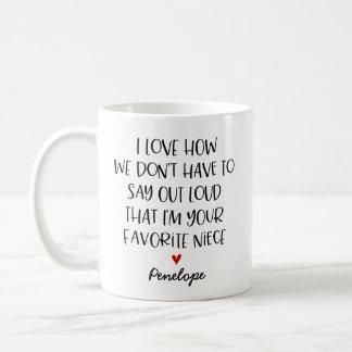 カスタムでお気に入りのな姪 コーヒーマグカップ