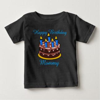 カスタムでかわいいハッピーバースデーのお母さんのベビーのワイシャツ ベビーTシャツ