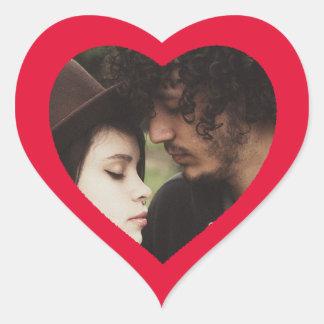 カスタムでかわいいハート形のカップルの写真のステッカー ハートシール