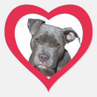 カスタムでかわいくおもしろいなハート形犬の写真のステッカー ハートシール