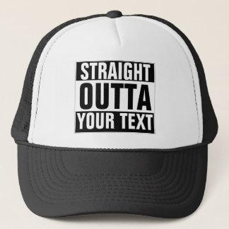 カスタムでまっすぐなOUTTAの帽子-あなたの文字をここに加えて下さい キャップ