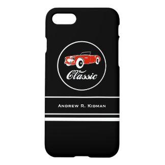 カスタムでクラシックなレトロのヴィンテージのコンバーチブル車 iPhone 8/7 ケース
