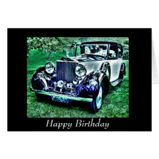 カスタムでクラシックな誕生日ロールRoyce カード