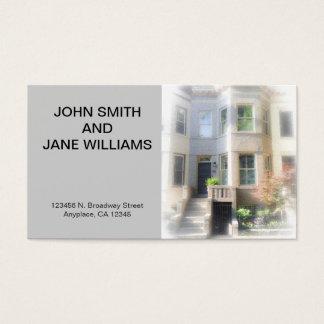 カスタムで個人的なカード: w Horzの家の写真をつなぎます 名刺