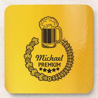 カスタムで個人的なビールロゴのコースター コースター