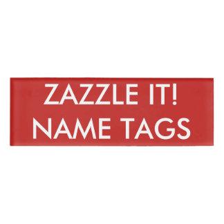 カスタムで名前入りで小さい名札のブランクのテンプレート 名札
