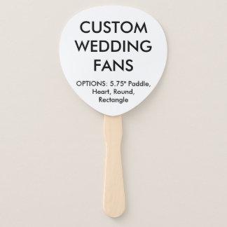 カスタムで名前入りなかい結婚式はテンプレートに送風します ハンドファン