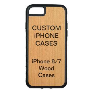 カスタムで名前入りなさくらんぼの木製のiPhone 8/7の場合 Carved iPhone 8/7 ケース