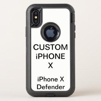 カスタムで名前入りなオッターボックスのiPhone Xの堅い場合 オッターボックスディフェンダーiPhone X ケース