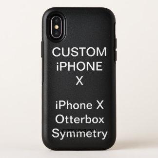 カスタムで名前入りなオッターボックスのiPhone Xの場合 オッターボックスシンメトリー iPhone X ケース