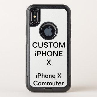 カスタムで名前入りなオッターボックスのiPhone Xは場合を取り替えます オッターボックスコミューターiPhone X ケース