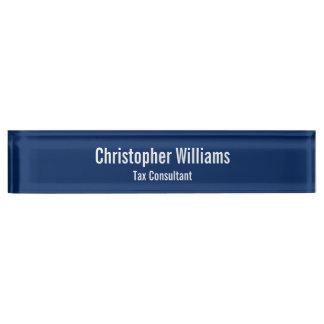 カスタムで名前入りなオフィスのタイトルの机の名札