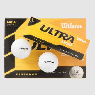 カスタムで名前入りなゴルフ・ボールの空白のなテンプレート(12) ゴルフボール
