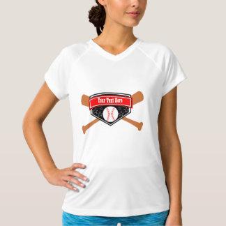 カスタムで名前入りなソフトボールの野球チームの名前 Tシャツ
