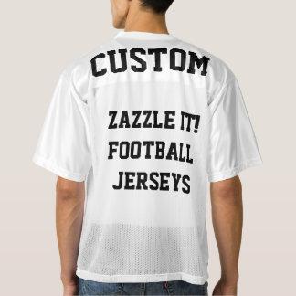 カスタムで名前入りなフットボールのジャージーの空白のなテンプレート メンズフットボールジャージー