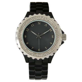 カスタムで名前入りな一流レディース女性腕時計 腕時計
