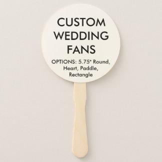 カスタムで名前入りな円形の結婚式はテンプレートに送風します ハンドファン
