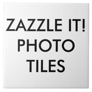 カスタムで名前入りな写真のタイルのブランクのテンプレート タイル