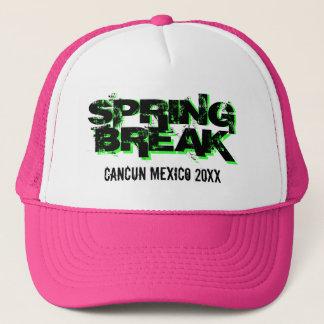 カスタムで名前入りな春休みのパーティーのトラック運転手の帽子 キャップ