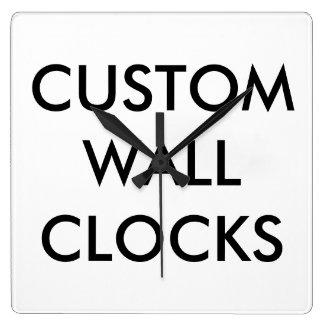 カスタムで名前入りな柱時計のブランクのテンプレート スクエア壁時計