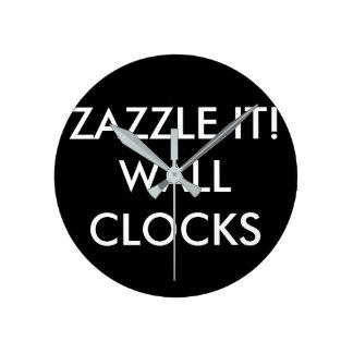 カスタムで名前入りな柱時計のブランクのテンプレート ラウンド壁時計