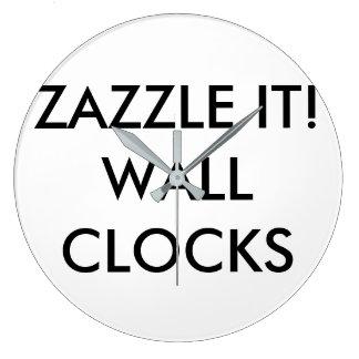 カスタムで名前入りな柱時計のブランクのテンプレート ラージ壁時計
