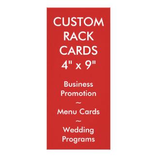 カスタムで名前入りな棚カードブランクのテンプレート ラックカード