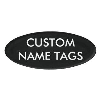 カスタムで名前入りな楕円形の名札のブランクのテンプレート 名札