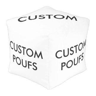 カスタムで名前入りな正方形のPoufのブランクのテンプレート プーフ