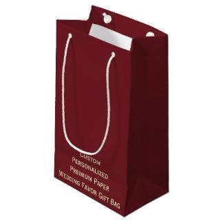 カスタムで名前入りな結婚式の引き出物の紙のギフトバッグ スモールペーパーバッグ