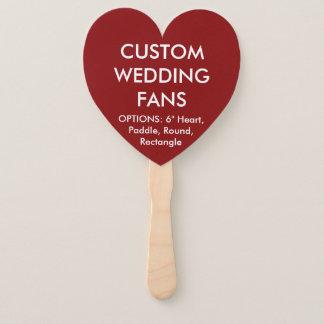 カスタムで名前入りな赤いハートの結婚式ファン ハンドファン