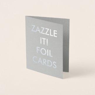 カスタムで名前入りな銀ぱくの挨拶状 箔カード