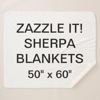 """カスタムで名前入りな50"""" x 60"""" Sherpa毛布のブランク シェルパブランケット"""