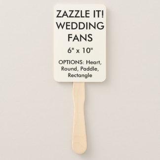 """カスタムで名前入りな6つはx 10""""結婚式テンプレートに送風します ハンドファン"""