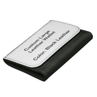 カスタムで大きい革財布(黒)