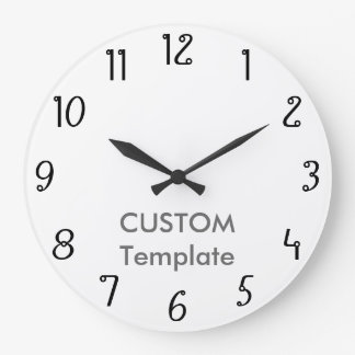 """カスタムで大きい10.75""""は円形の柱時計本を一周します ラージ壁時計"""