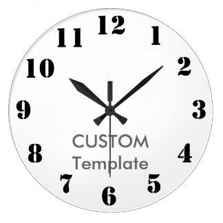 """カスタムで大きい10.75""""円形の柱時計のステンシルフォント ラージ壁時計"""