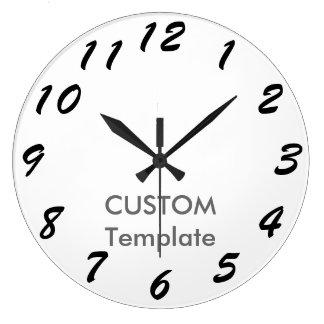 """カスタムで大きい10.75""""円形の柱時計のブラシの原稿 ラージ壁時計"""