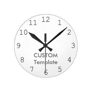 """カスタムで大きい10.75""""円形の柱時計の日本人EU ラウンド壁時計"""