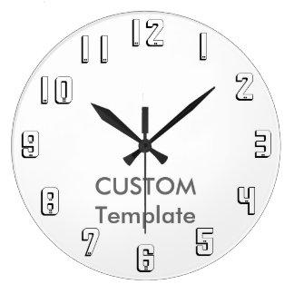 """カスタムで大きい10.75""""円形の柱時計ミルウォーキーN. ラージ壁時計"""