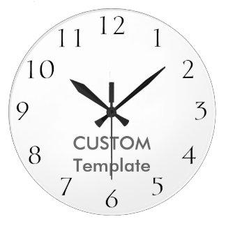 """カスタムで大きい10.75""""円形の柱時計CALHICの出版物 ラージ壁時計"""