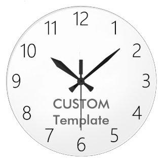 """カスタムで大きい10.75""""円形の柱時計J2のはっきりしたなフォント ラージ壁時計"""