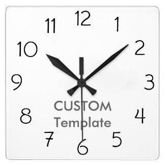"""カスタムで大きい10.75""""正方形の柱時計のガーゴイル スクエア壁時計"""