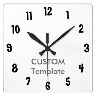 """カスタムで大きい10.75""""正方形の柱時計の大きいリンボー界 スクエア壁時計"""