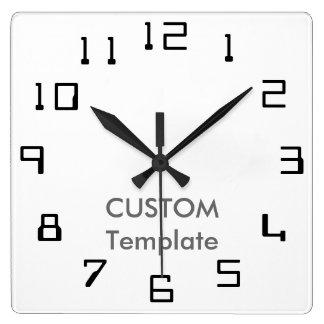 """カスタムで大きい10.75""""正方形の柱時計軌道II スクエア壁時計"""