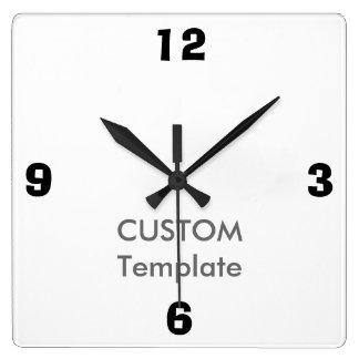 """カスタムで大きい10.75""""正方形の柱時計、アドリブのフォント スクエア壁時計"""
